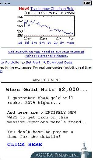 gold speculation 2007
