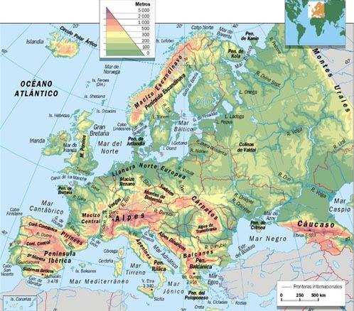 QU DE GEOGRAFA Juegos para estudiar el Mapa Fsico de Europa