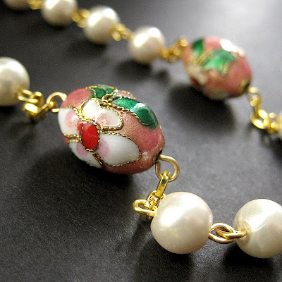 Cherry Blossom Pink and Pearl Rosary