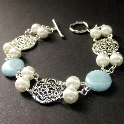 Aquamarine Gemstone Bracelet - Amie