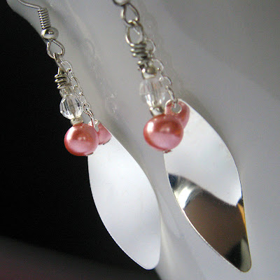 Shiny Dancer Earrings with Vintage Pearls