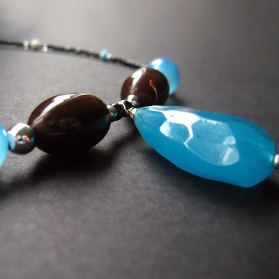 The Rainy Days and Teardrops Necklace in Teal Blue
