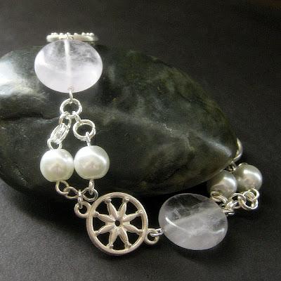 Lilac Lace Amethyst Gemstone Bracelet