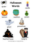 Halloween words posters