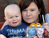 pic of young mother with unhappy child