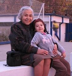 Mi Mamá con la Flo en el Estadio de la Usach