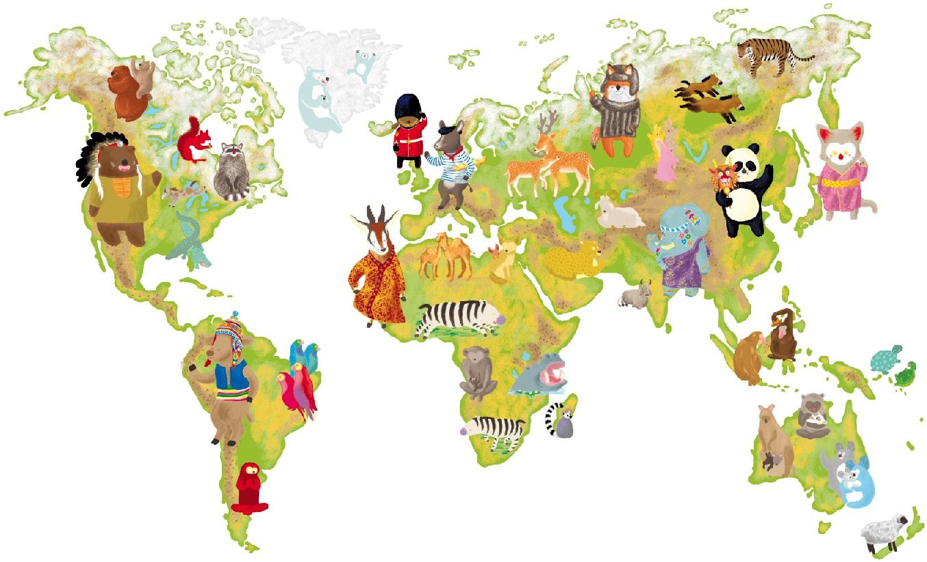 Le blog de lobuki janvier 2011 for Planisphere enfant