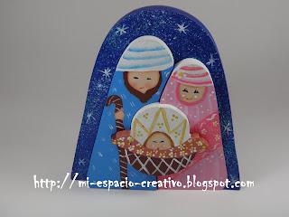 LLamativos Nacimientos en Madera MDF pintados a mano y con bonitos