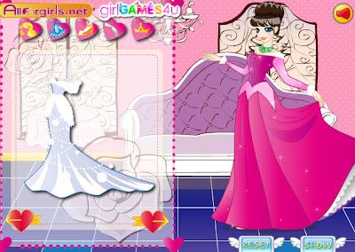 Juego de vestir a  la princesa del palacio