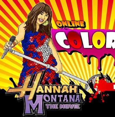 Juego de pintar Hannah Montana