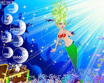 Vestir, peinar y maquillar a la princesa del mar Oceana