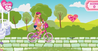 juego barbie bicicleta deporte