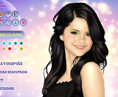 Juego para maquillar y peinar a Selena Gómez