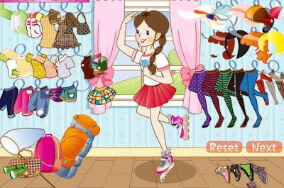 Vestir a la niña para el viaje primaveral