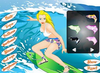 Juego para vestir a la chica surfista