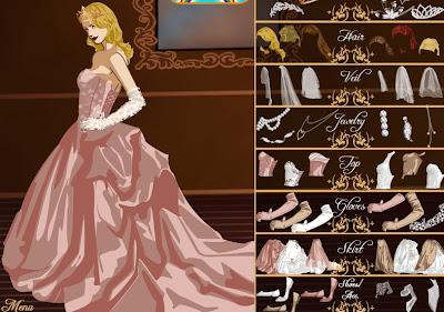 Juegos de vestir princesas de novia