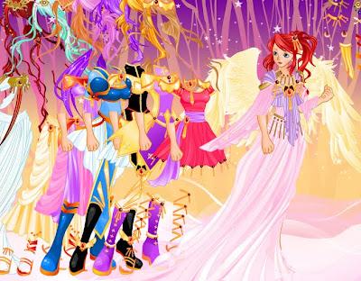 Juegos de vestir ángeles