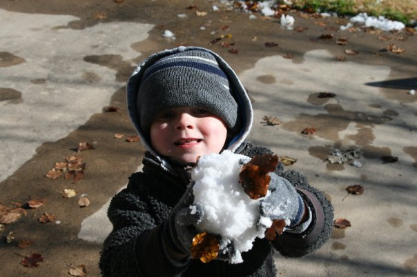 Taylor's First Snowball