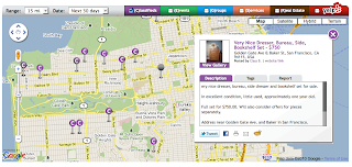 Post and search classifieds on a local map