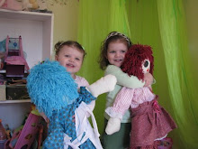 "Winners of the Teal & Pink "" Hope & Faith"" Custom-made Raggedy Ann's dolls by Judy McAllister"