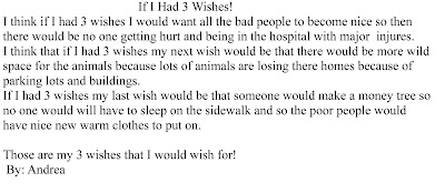 If i have three wishes essay
