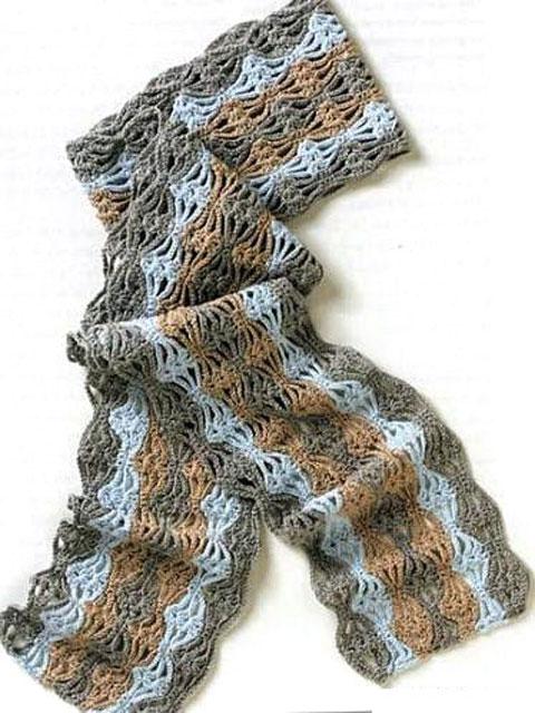 Вяжем шарф крючком