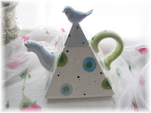 Square Tea Pot with bird on top