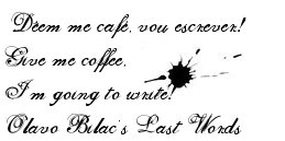 De-em me Cafe, Vou Escrever