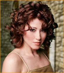 Curly Hairstyles for Round Face