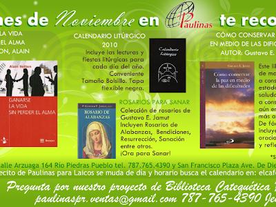 Libros Recomendados para Noviembre 2009