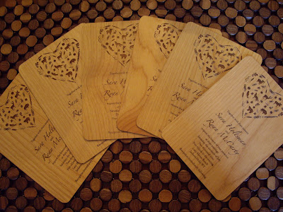 unique wood wedding invitations - Wood Wedding Invitations