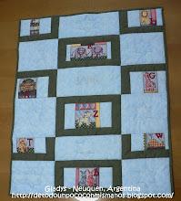 (13) 06/10:  Mi Primer Diseño y Quilt!!!