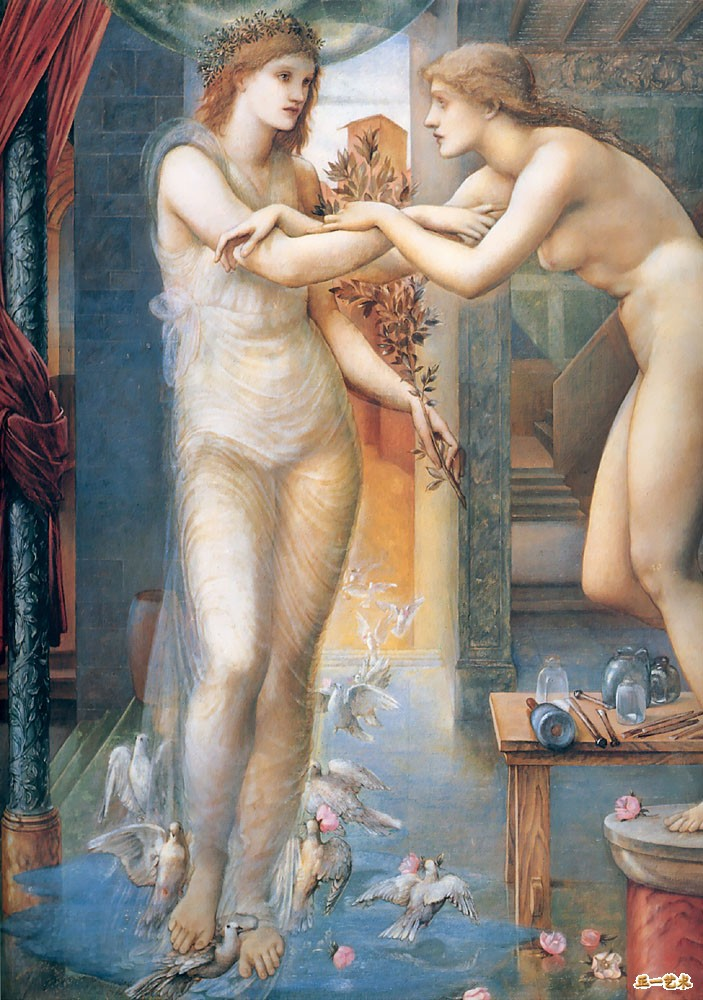 Edward Burne-Jones - Pigmalião e Galateia (1875-78)