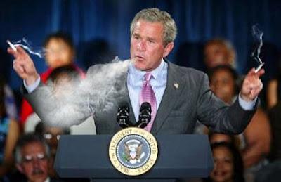 bush smoking pot