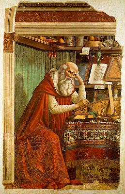 30 de SEPTIEMBRE, DIA MUNDIAL DEL TRADUCTOR Domenico_Ghirlandaio_-_St_Jerome_in_his_study