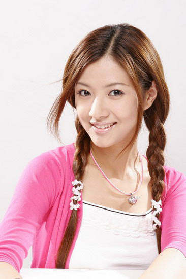Asian Girl with two long Braids. A very cute hairstyle for girls.