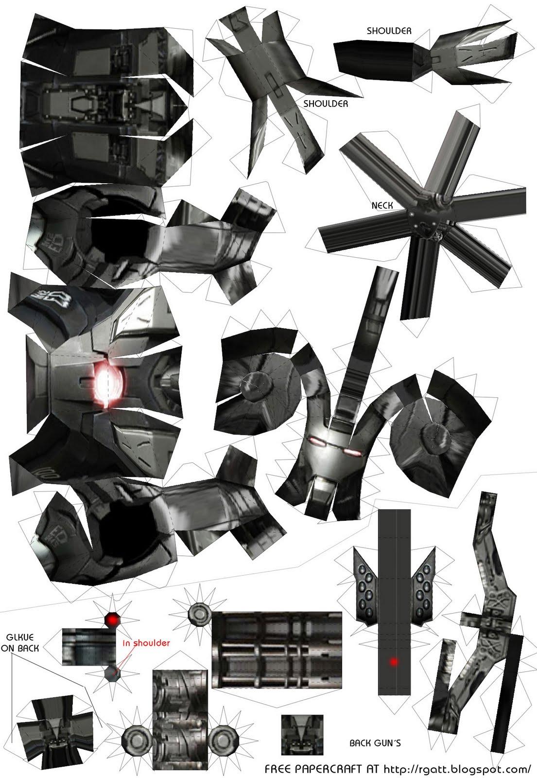 Rgatt Personal Work And Tests Ironman 2 Papercraft War