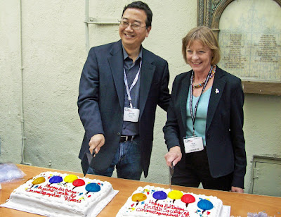 george leon, filmcastlive ASC President, Michael Goi and BSC President, Sue Gibson