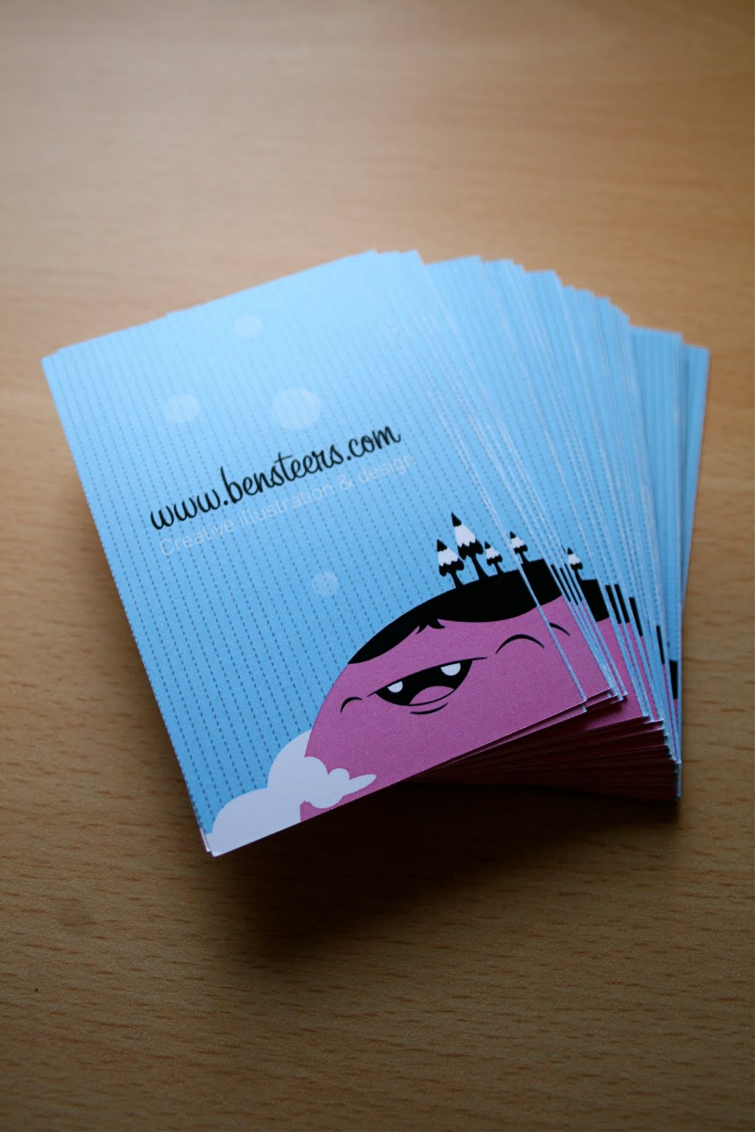 Ben Steers Illustration: Business cards