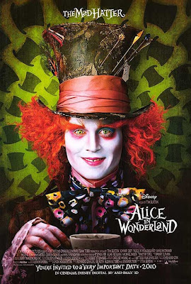 alice in wonderland, 2010, poster,disney, front, film, movie