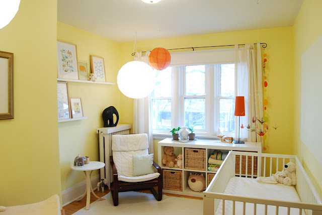 bright cheerful baby room