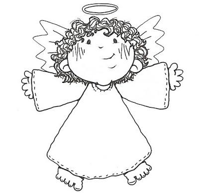 angel Anjinhos para pintar... para crianças