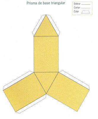prisma triangular Figuras Geométricas para crianças