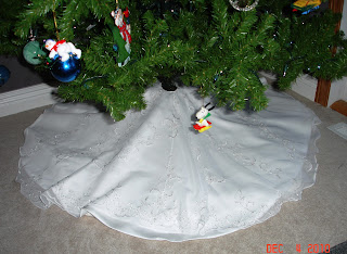 Wedding Gown to Christmas Tree Skirt photo 1