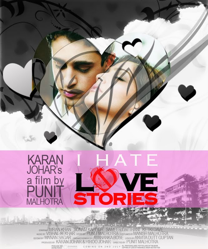 Imran Khan I HATE LOVE STORIES Poster Designs
