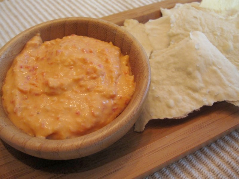 The Scratch Patch: White Bean Roasted Red Pepper Dip and Crackers