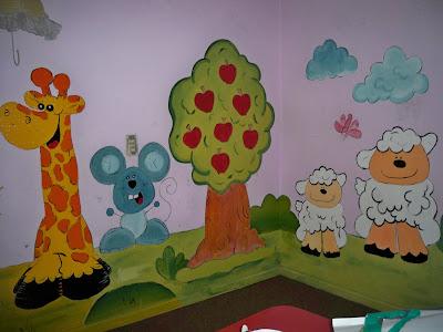Los ni os y la biblia murales pintados - Murales para ninos ...