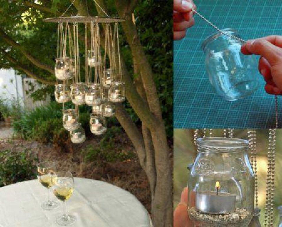 Lidinrecicla luces para jard n o balc n o terraza for Luces colgantes para jardin