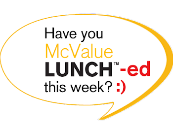 McValue Lunch Everyday From 12PM till 3PM.!