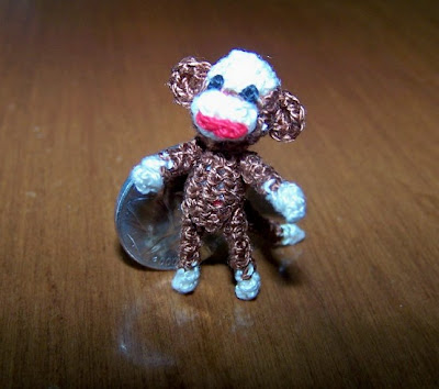 miniature sock monkey